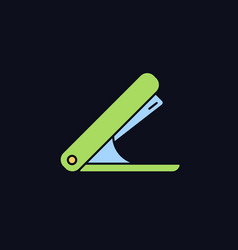 Stapler rgb color icon for dark theme vector