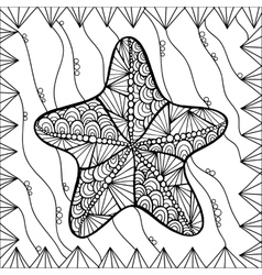 Starfish style zentangl vector image