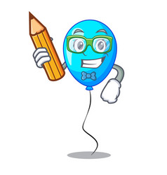Student blue balloon character on the rope vector
