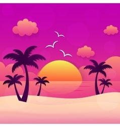Summer holiday sunset vector image
