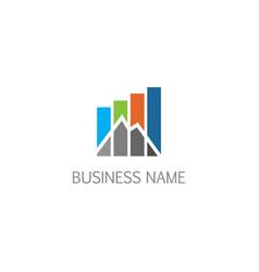 Summit business economy company logo vector