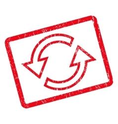 Sync Arrows Icon Rubber Stamp vector