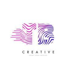 Tb t b zebra lines letter logo design with vector