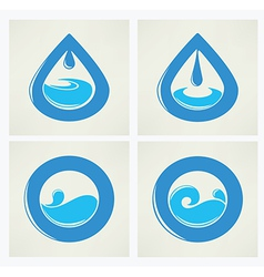 Water elements vector