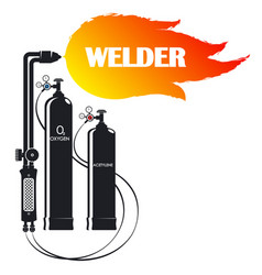 welder symbol for business with tool vector image