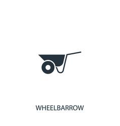 Wheelbarrow cart icon simple gardening element vector