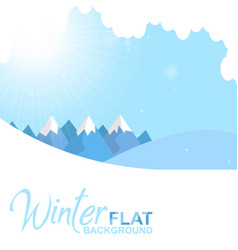 Winter flat blue background image vector