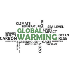 word cloud - global warming vector image