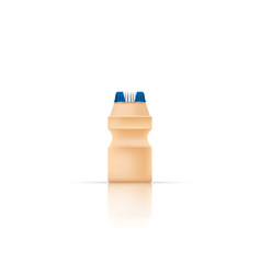 yakult bottle on white bg vector image