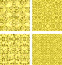 Yellow colorful seamless mosaic pattern set vector