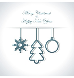 Abstract Christmas or New Year background vector image vector image