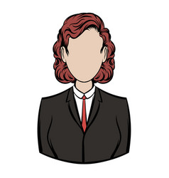 Business woman icon cartoon vector