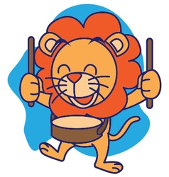 Drum Band Lion vector image vector image