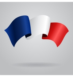 French waving Flag vector image vector image