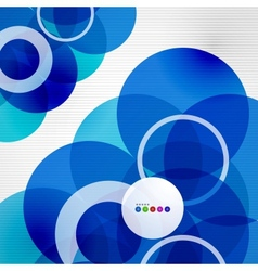 Geometric color circles modern template vector image vector image