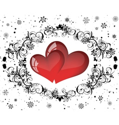 valentines day background frame vector image vector image