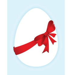 eggs with a red bow vector image vector image