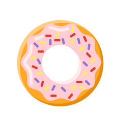flat style of donut vector image