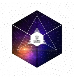 Hipster triangular colorful cosmic background with vector image vector image