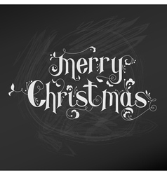 Retro Christmas Card - Christmas Lettering vector image vector image