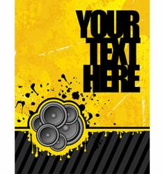 yellow club speakers vector image vector image