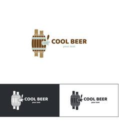 Beer logo seven vector