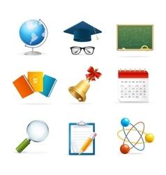 Colorful School Icon Set vector image vector image