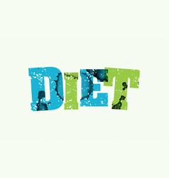 diet concept stamped word art vector image vector image