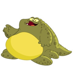 Fat monster vector