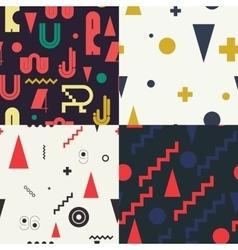 Geometric set seamless pattern vector image
