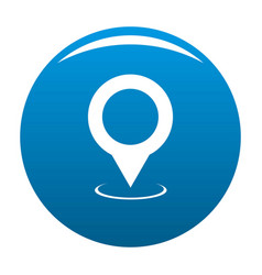 map pointer icon blue vector image
