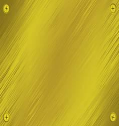 metal screw plate vector image vector image