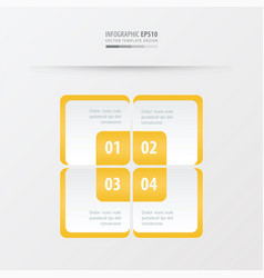 rectangle presentation template yellow color vector image