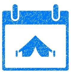 Camping calendar day grainy texture icon vector
