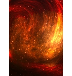 Colorful bright fire background vector image