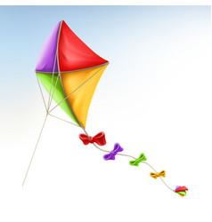 kite 3d icon vector image