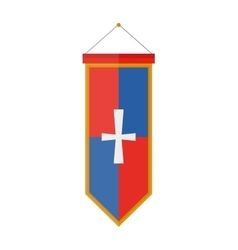 Knight flag icon vector image