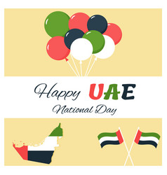 2 december uae independence day background vector image