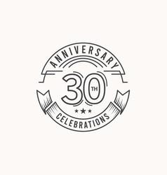 30 years anniversary celebration logo template vector