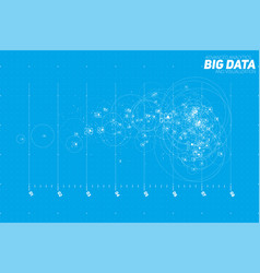 Abstract blue big data point plot vector