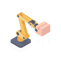 automated robot arm isometric vector image
