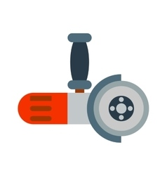 Big powerful angle grinder with abrasive disk vector image