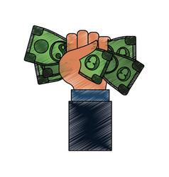 billets of money vector image