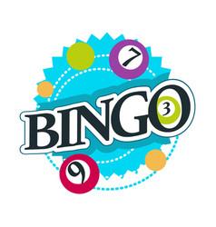 bingo isolated icon with lettering casino gambling vector image