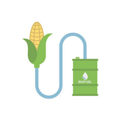 Biofuel - biomass ethanol made from corn vector