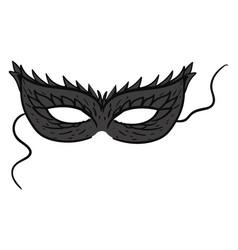 black mask on white background vector image