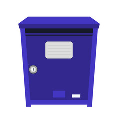 Blue post box or mailbox icon vector