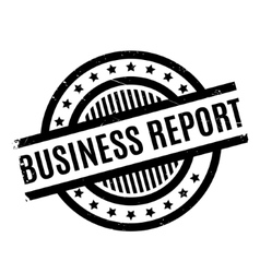 Business Report rubber stamp vector image