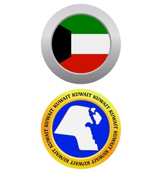 button as a symbol KUWAIT vector image
