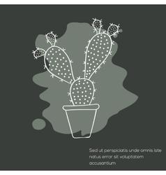 Cactus invitation card vector image